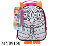 popular diy drawing bag for kids/DIY painting fashion backpack bag with color markers