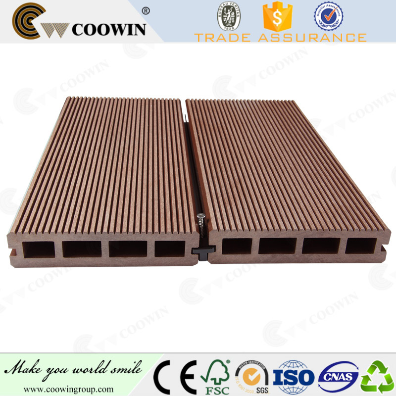 Swimming pool sides used wood plastic composite decking