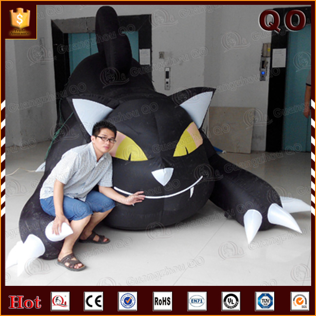 Outdoor activities inflatable big black cat halloween party decoration