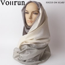 Brown Beige Blacked Custom Woven Scarf Tudung