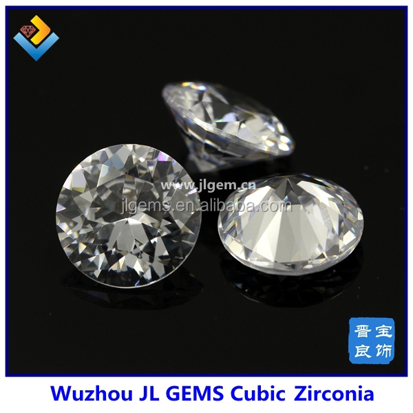 Thick Girdle Round Shape White European Cut Cubic Zirconia