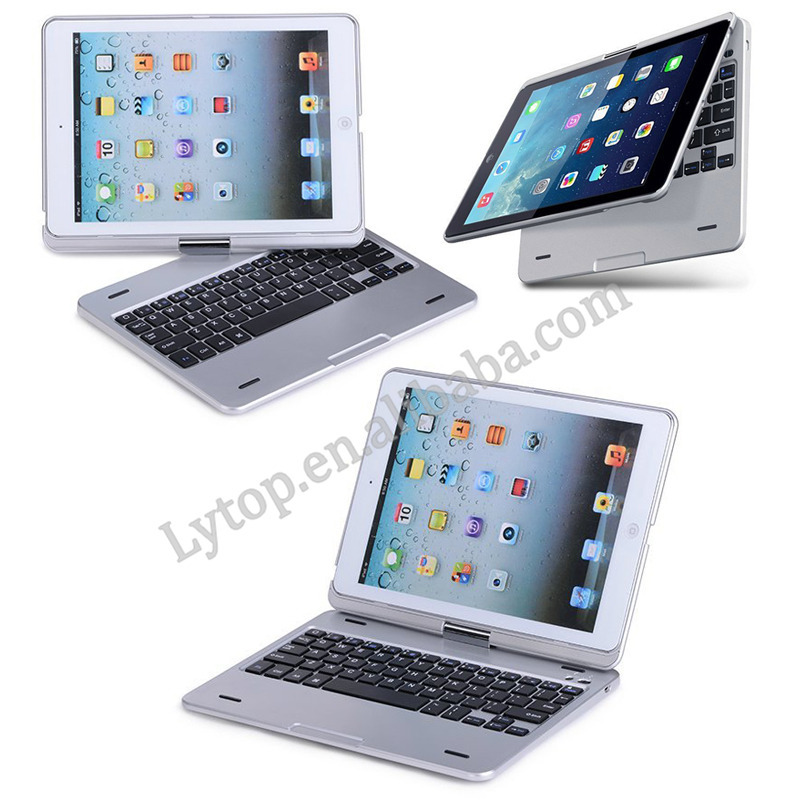 Hot Selling Bluetooth Aluminum Wireless Keyboard Case for iPad Air,For iPad Air Bluetooth Keyboard