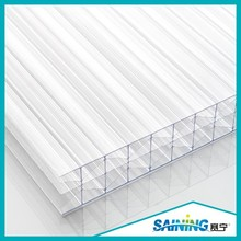 Grade A 25mm polycarbonate transparent multiwall sheet/polycarbonate polyglass sheet /pc eraction partition