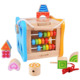 Rolimate 2018 new style Wooden Shapes Sorter Activity Cube Lacing Beads Educational toys