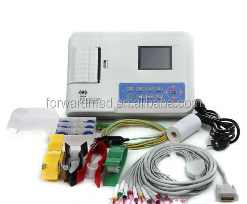 Digital 3 channel 12leads ECG Machine Portable ECG/EKG Price