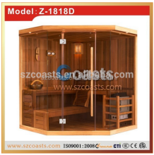 New design red cedar sauna house/sauna room(2 persons)