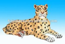 Ceramic leopard for home decoration, ceramic painted leopard