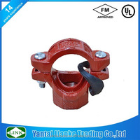 FM/UL concentric reducer mechanical tee ductile iron grooved fittings for fire hydrant