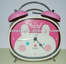 Lovely metal twin bell desk clock for gift