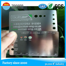 Hot selling etched metal discount card