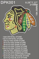 Chicago Blackhawks bling hot fix rhinestone transfer