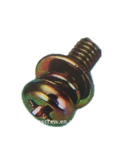 electronic combined screw with washer