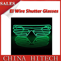 cool design half frame led sunglasses with high quality,low price,fashion design,bar,party item,Shenzhen manufacturer