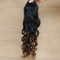 7A Grade Virgin Remy Brazilian Ombre Hair 2 Tone Color Ombre Hair