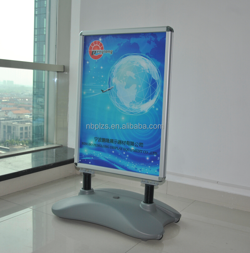 hot aluminum frame standing,advertising <strong>poster</strong> display <strong>stands</strong>,outdoor advertisement board