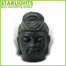 Factory Custom made best home decoration gift polyresin black resin buddha head