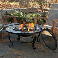 Mosaic Marble Fire Pit Table 34 Inch