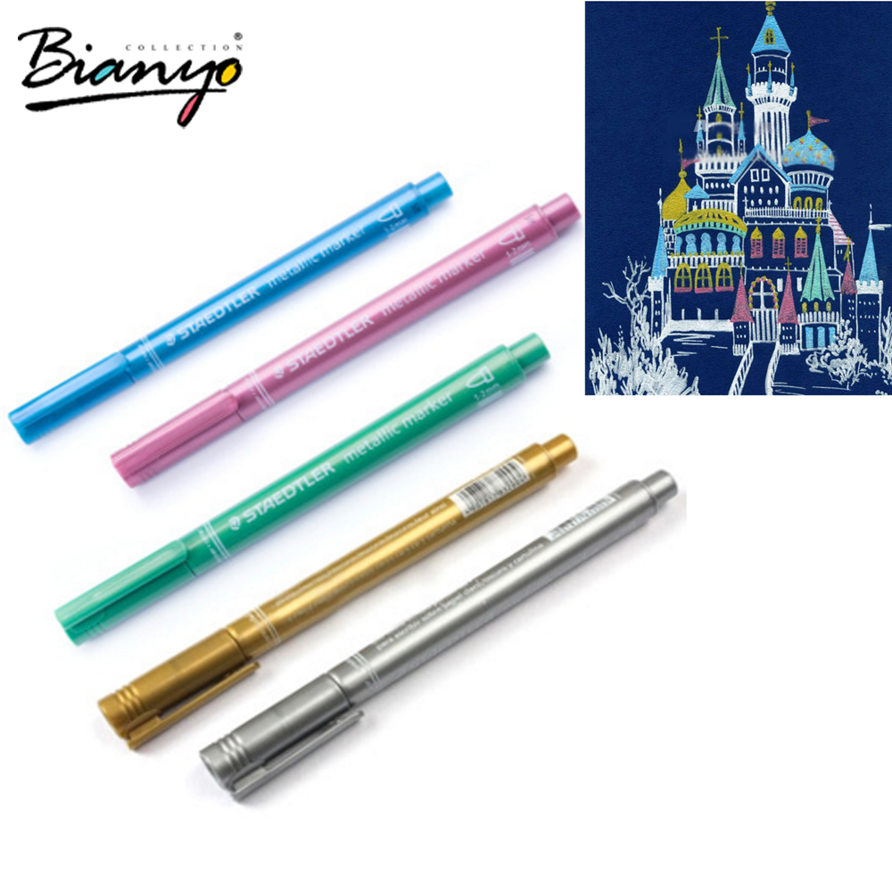 STEADTLER DIY metallic markers pen for greetings cards fine point markers