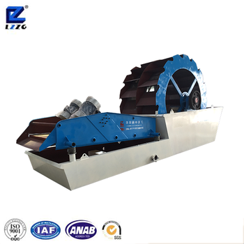 Large capacity sand washing and dewatering machine