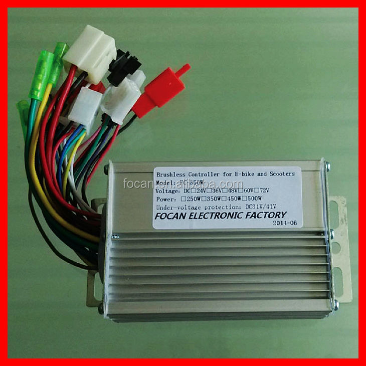 24V 350W 6 intelligent Brushless dc motor speed controller for Electric Bicycle & Scooter