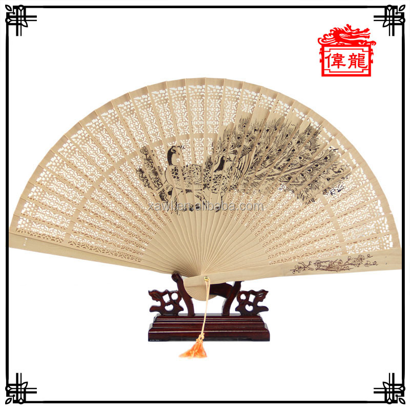 High Quality 23*41cm Souvenir Men's Hand Fan Personalized GYS115