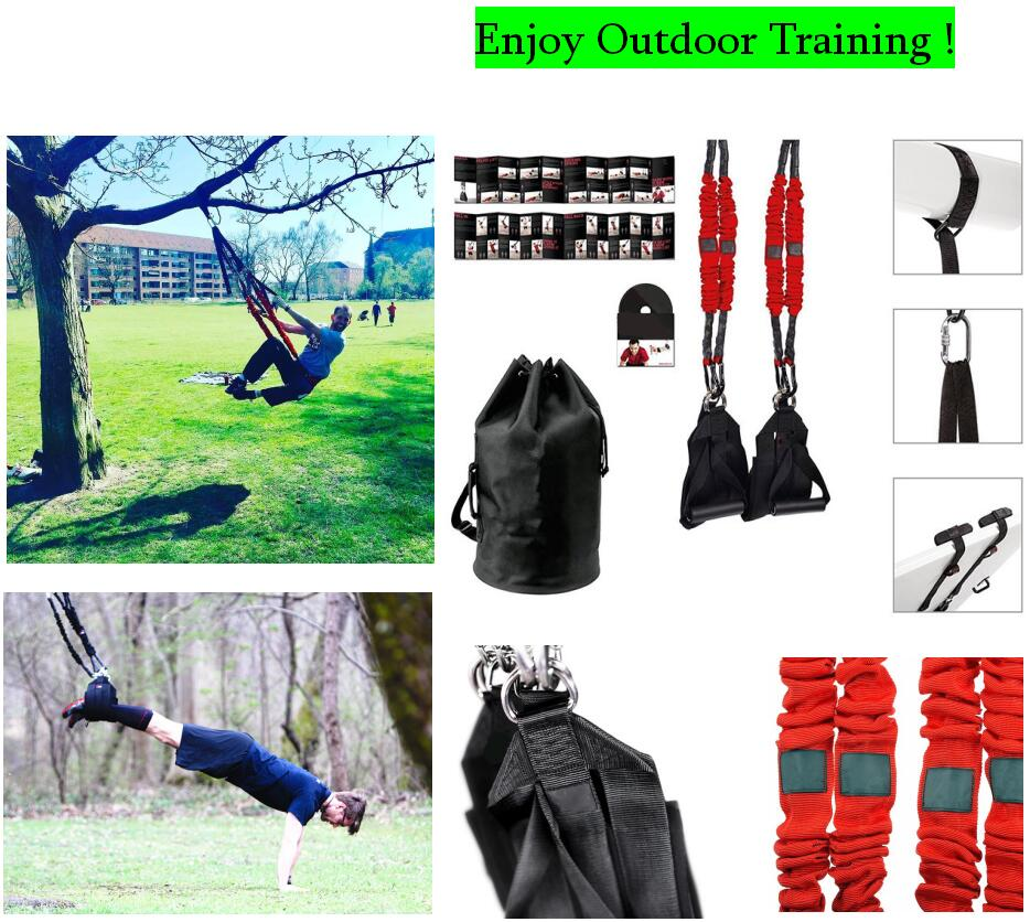 New Pilates Suspension Elastic Sling Practice Pull Rope Bungee Workout Trainer Outdoor Cord Resistance Hang Training Straps