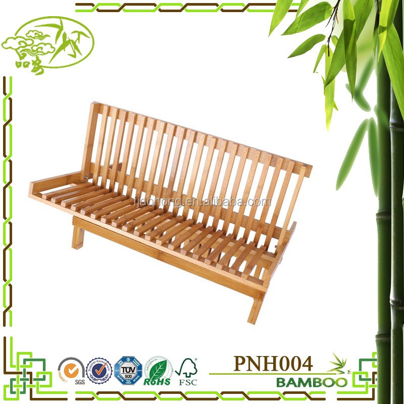 Aonong folding dish dryer bamboo rack/kitchen dish rack bamboo dryer rack for dish, bowl, cup/Kitchen Sink Dish Drainer