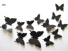 Factory Hot sell butterfly christmas wall sticker