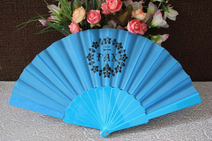 Promotional cheap plastic hand fan custom printed