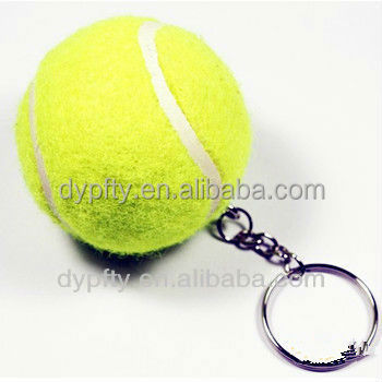 Mini tennis ball keychain for sales