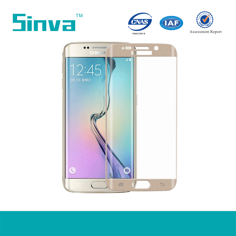 Explosion Proof Colorful Full Cover Tempered Glass Screen Guard for Samsung galaxy S6 Edge Plus Fast Delivery Time