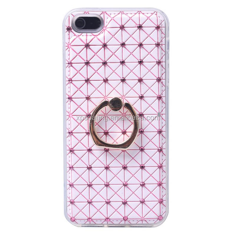 Diamond hard case cover with Ring stand for iphone 5G 5S