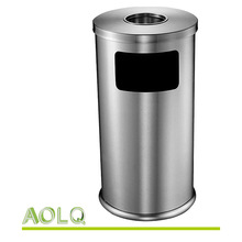 trash can/ waste container with cigarette bin