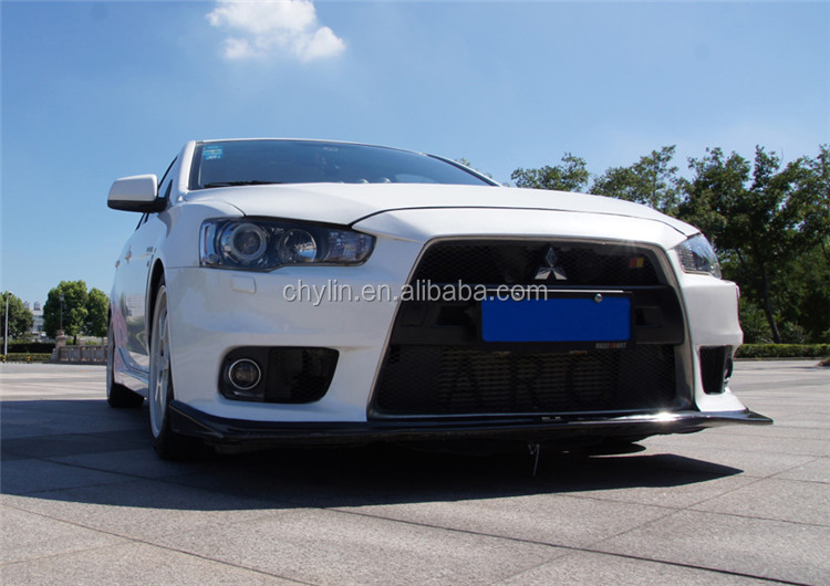 PP Material car front bumper cover for Lancer-ex EVO Style (galvanized grill)