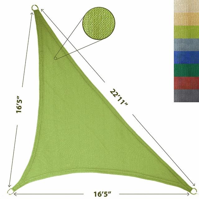 ZY-SS0005 Customized Waterproof Garden office outdoor triangle sunshade sail
