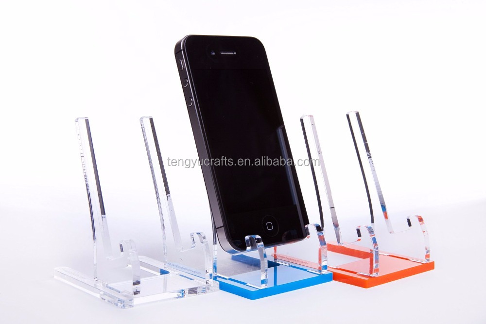 custom size clear security table top plexiglass phone holder acrylic plastic for apple smartphone display stand