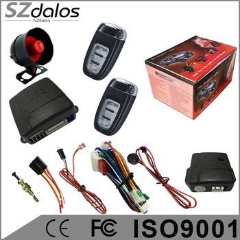 2017 newest model car alarm compatible with Nemsis gold series bulk production, rolling code car alarm hot in south america