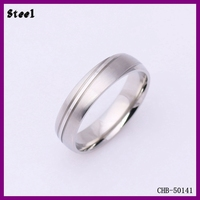 Yiwu Fashion Beautiful 316L Line Men's Ring