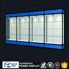 Top quality free standing wall glass wood display pharmacy shelves for sale