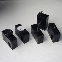 Plastic recoil pull box for mobile phone display stand