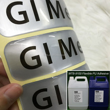 Two Components PU Glue Clear Polyurethane Resin and Hardener for Doming Logo