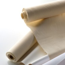 100% cotton cloth material canvas rolls bleached fabric