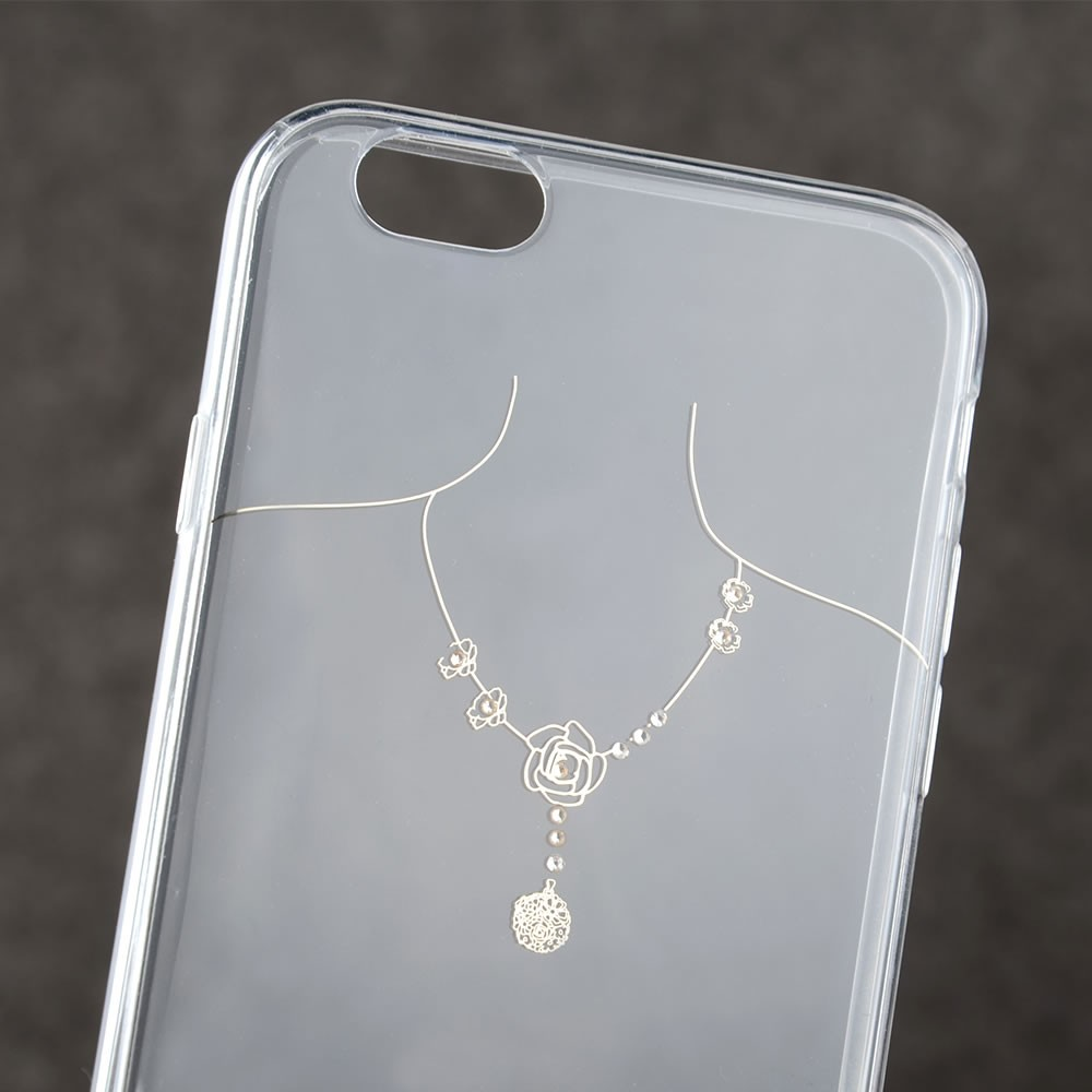 C&T Ultra Thin Soft TPU Luxury Necklace Clear Case For Apple iPhone 6 Plus 5.5 Inch