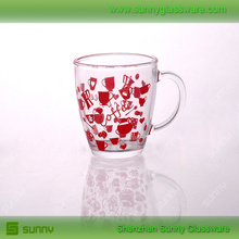 Espresso glass mug with full decal