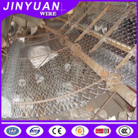 All size you can choose Galvanized diamond wire mesh, PVC Coated Chain mesh Fence