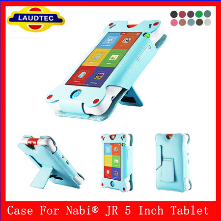 Cute Kid's Tablet Leather Case For Nabi JR Children Tablet Case