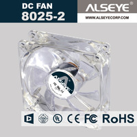 Alseye CB2606 manufacture 80mm 5v 12v dc fan usb fan with led clock
