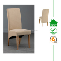 DC-3033 modern wood design chair with fabric cover for dining room
