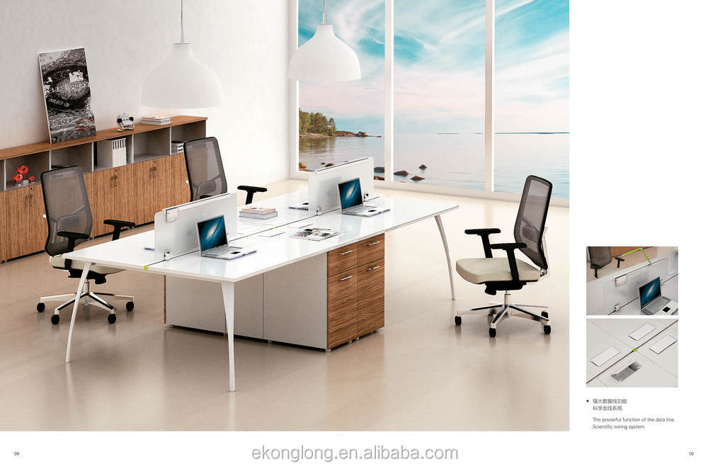 Modern office furniture white melamine modern office staff desk buy white melamine modern Home center furniture in dubai