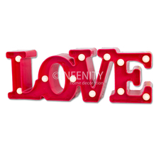 3D LOVE Words Designs Home Decoration LED Energy Saving Night Lights
